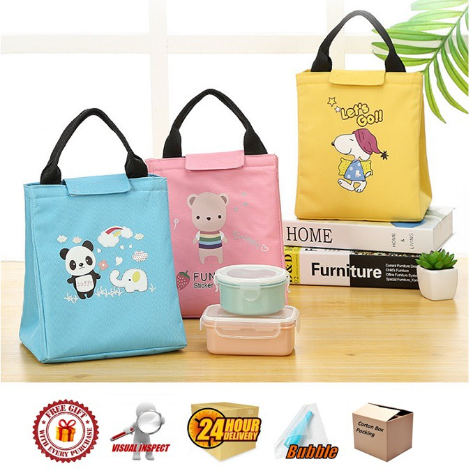 Insulated Thermal Cooler Bag/ Lunch Bag Type C Cute Anime Series