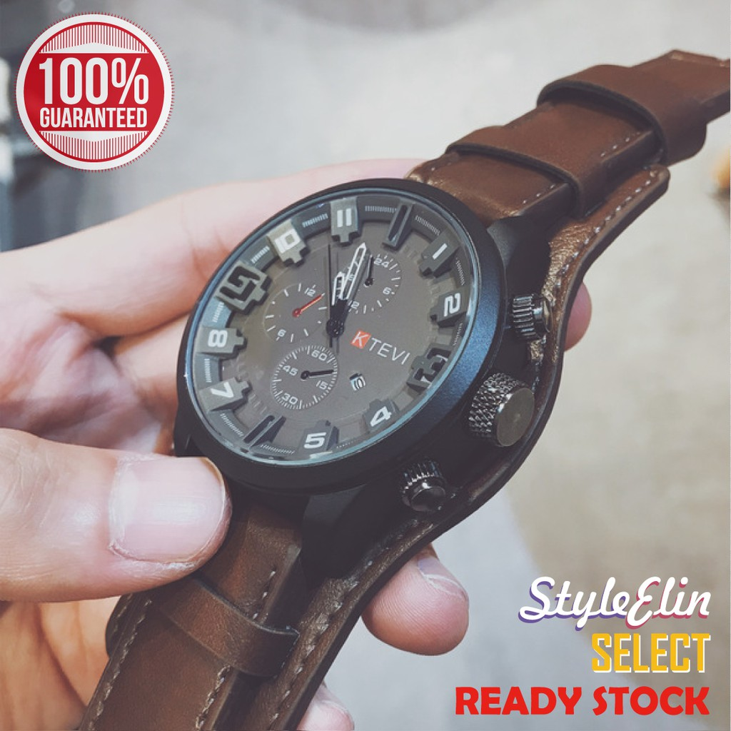 Men's fashion sports watch Big Dial Waterproof Men Watches
