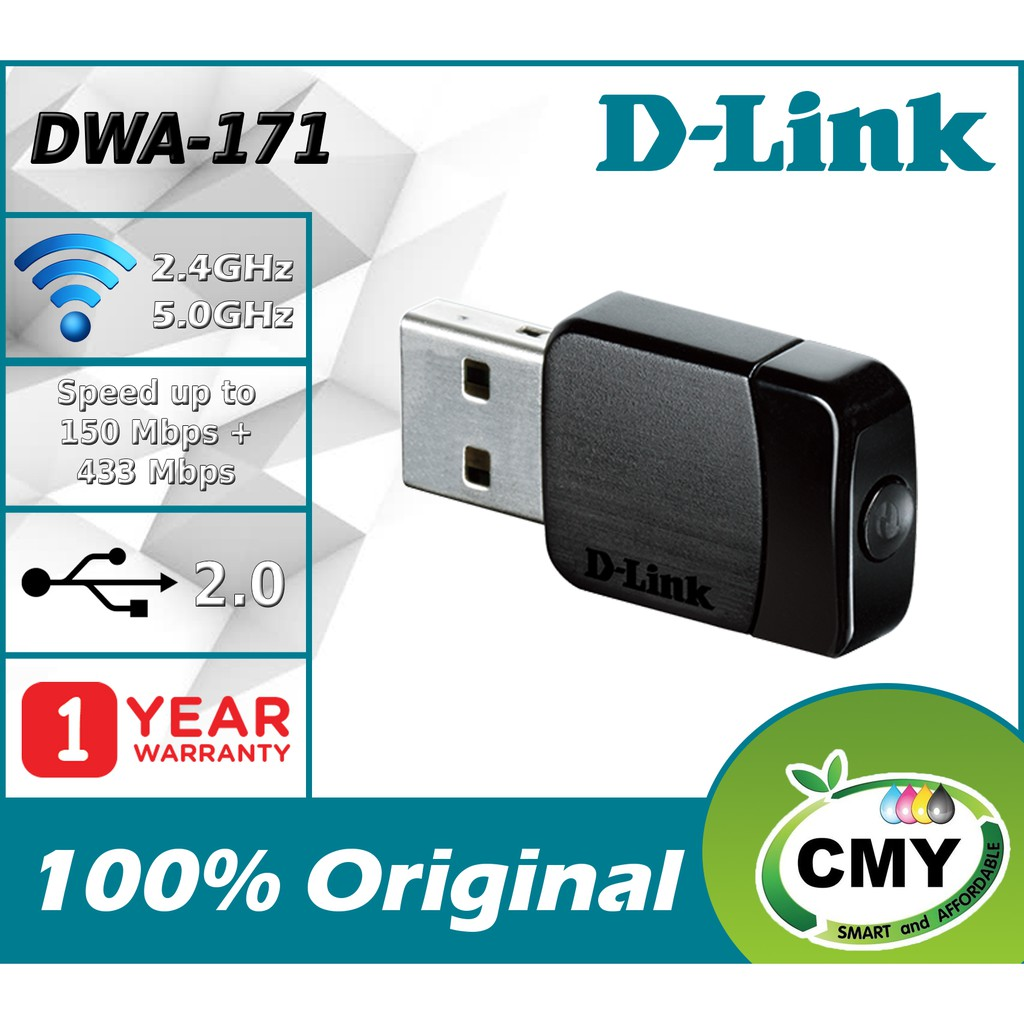 D-LINK MU-MIMO Version AC 600Mbps Dual Band WiFi Mini USB Adapter DWA-171 similar with DWA-131