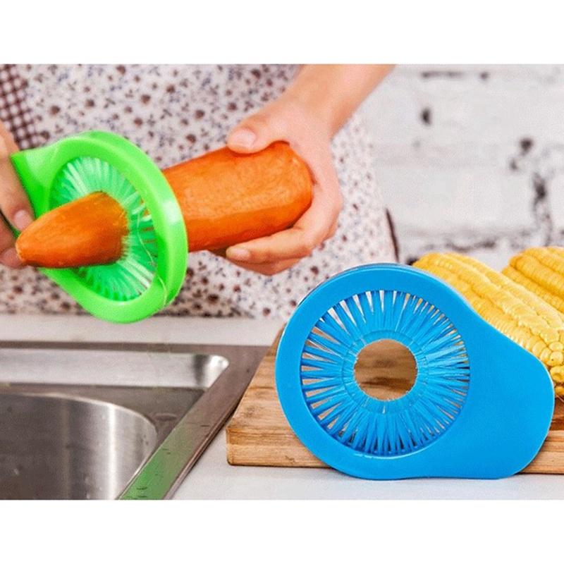 Corn Desilker Vegatables Brush Carrot Cucumber Yam Cleaner Scrubber Green Corn Silk Remover