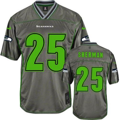 Nike Seahawks #25 Richard Sherman Green Stitched NFL Elite Drift  for cheap