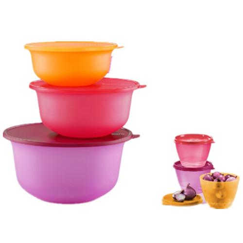Tupperware Aloha Bowl Set (3) 2L/4L/7.5L PWP Handy Fancy (3) 380ml Orange/Pink/Purple