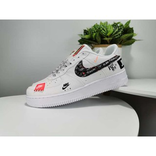 """new product 95f44 f0674 Ready Stock Nike Air Force 1 Low """"Just Do It"""" Commemorative Canvas White  Men's and Women's Shoes 36-45 AR7719 007"""