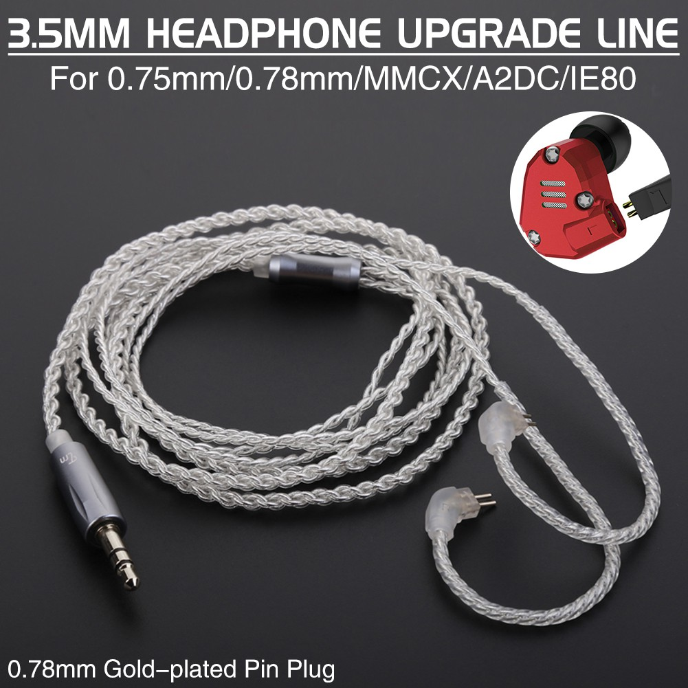 Tamymytrn V10 V20 Earphone Silver Plated Upgraded Cable For 075 Wiring A Plug Gold And 078pin Shopee Malaysia