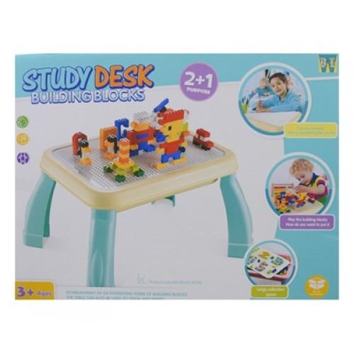 Multi-Function Children Table Building Blocks Table Learning Study Desk Building Block 2 in 1 + Free 150pcs blocks