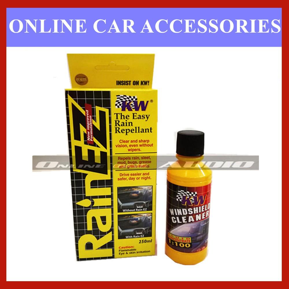 KW 1x Rain EZ (Rain Repellant),1x Windshield Cleaner (2 item in package)