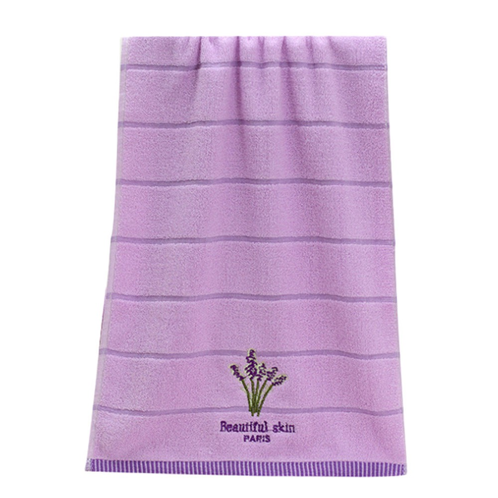 Printed Embroidery Soft Aromatherapy Lavender 100/% Cotton Hand Face Towel