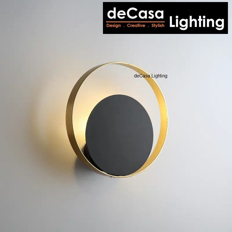 deCasa Lighting Designer Modern Ring Wall Lamp C/W 5w Led Bulb Design Round Shape Wall Light Lampu Hiasan Dinding B2012