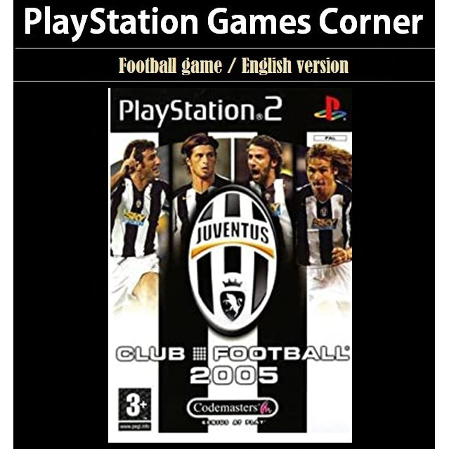 PS2 Game Club Football 2005 Juventus, English version, Football Game / Playstation 2 / Playstation 3