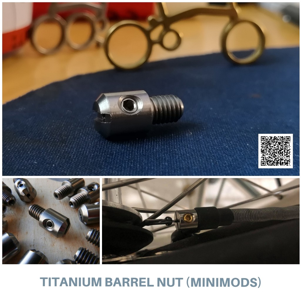 Brompton 2/6 Speed Shifting Cable Titanium Terminal Barrel Nut (Minimods)
