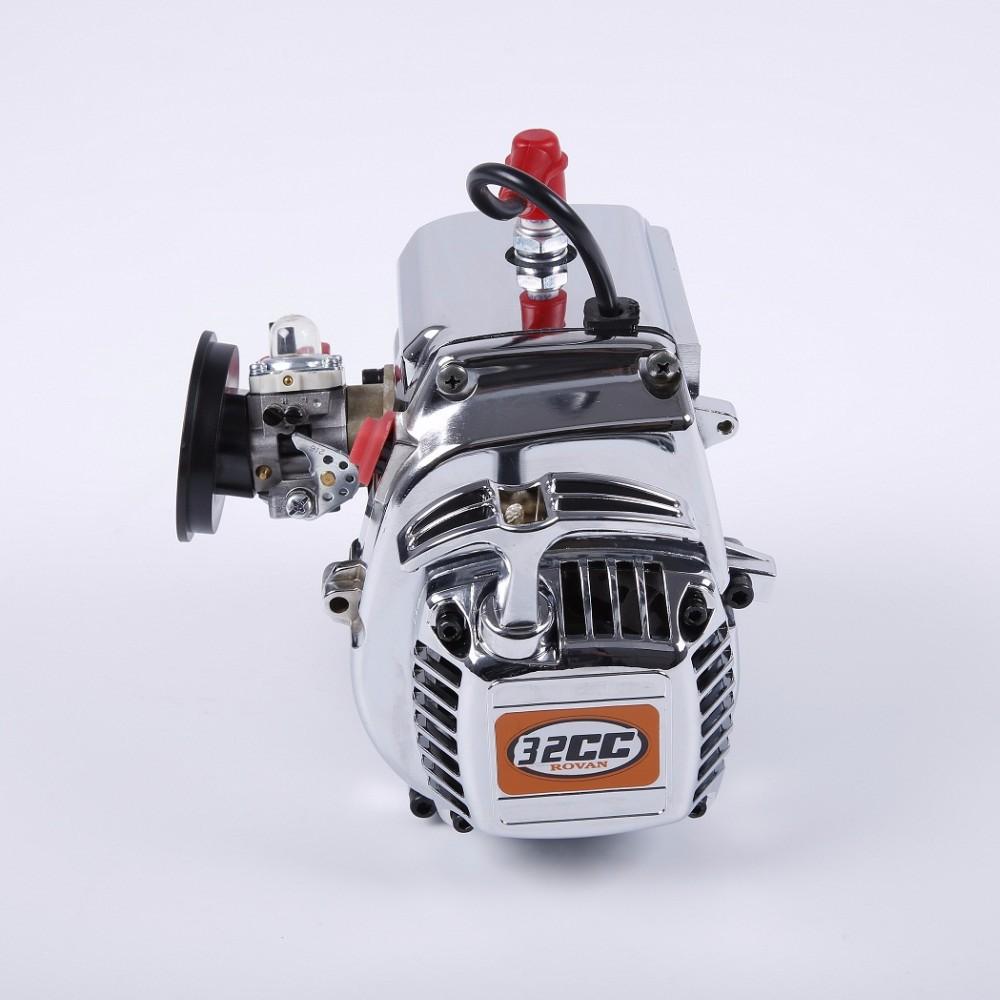 1/5 RC Rovan 32cc Engine with Chrome Covers Walbro 1107 Carburetor and NGK  Plug