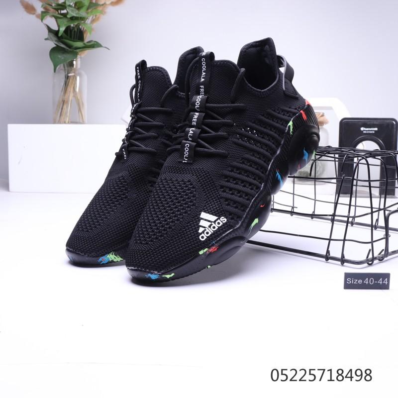 Original Adidas new personalized print graffiti soft bottom comfortable woven socks sneakers