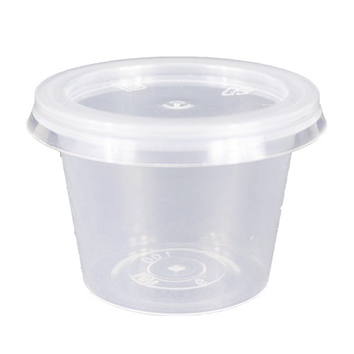 [ 50set / pack ] Ecohouse Round PP Sauce Container 1oz / 2 oz