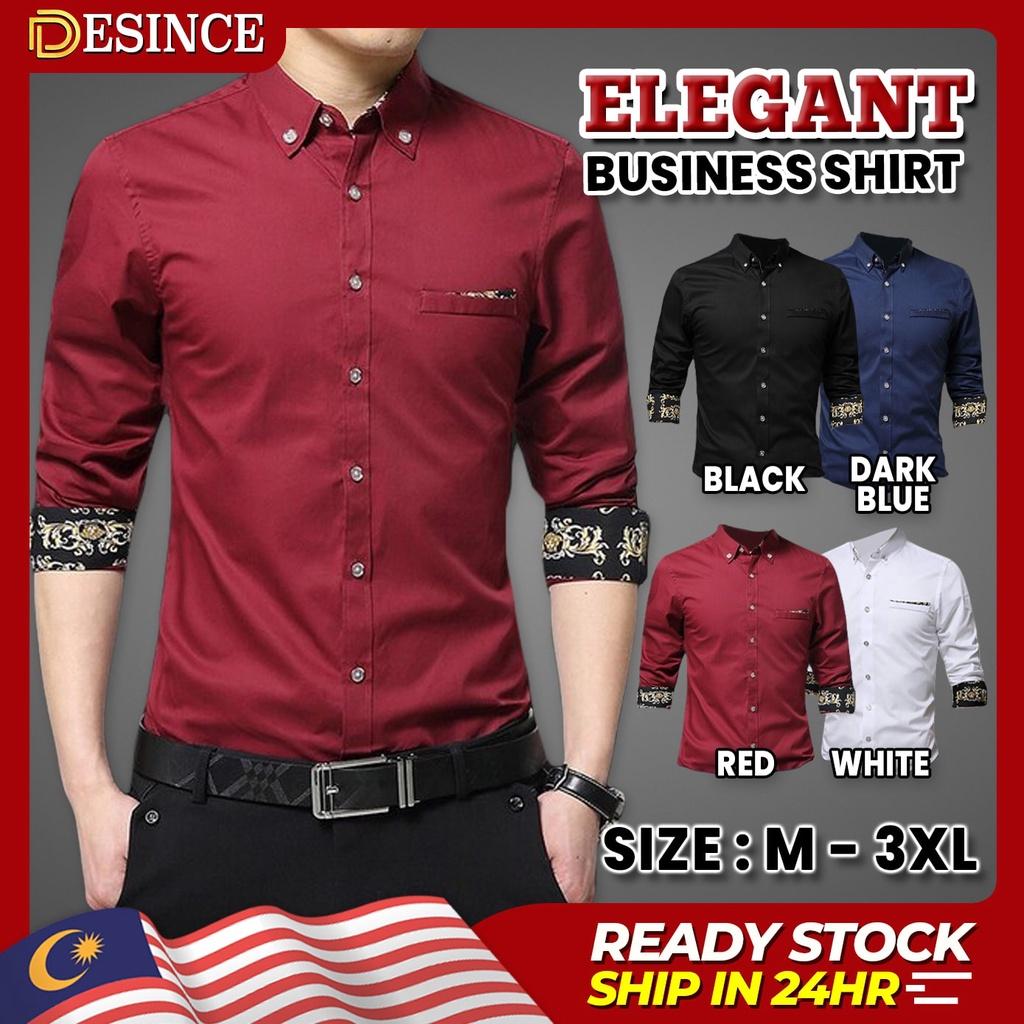 🇲🇾READY STOCK🤵 Men Business Shirt Long Sleeve Formal Office Shirt Top Buttoned Shirt Baju Kemeja Lelaki Working MT 009