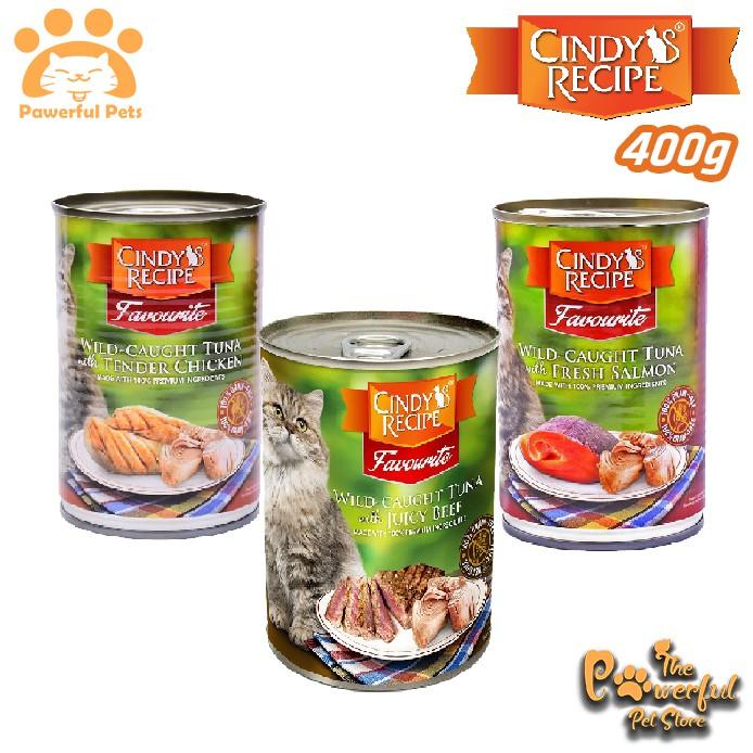 Cindy S Recipe Favourite Cat Wet Can Tin Food Makanan Basah Kuching 400g Shopee Malaysia