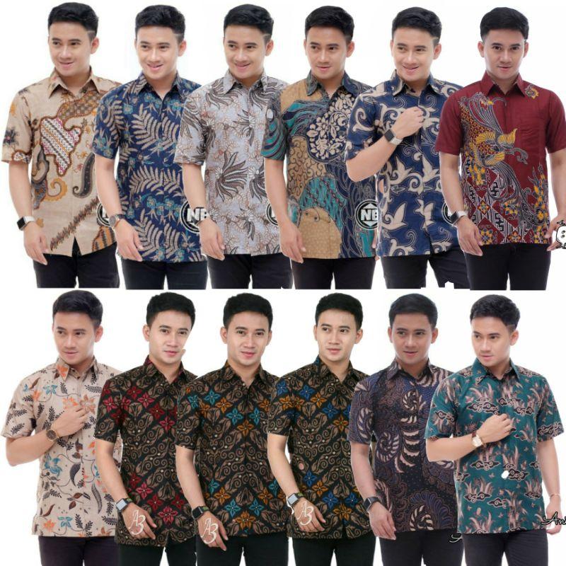 [2.0] KEMEJA BATIK  LELAKI BAJU BATIK LELAKI JAWA READY STOCK MALAYSIA BATIK BATIK shirt Batik size Malaysia