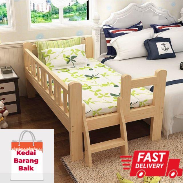 Ready Stock Katil Kanak Kanak Bilik Tidur Kayu Shopee Malaysia