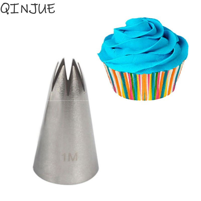 Stainless Steel Baking Mold Cake Decorating Ice Cream Tool Icing Piping Nozzles