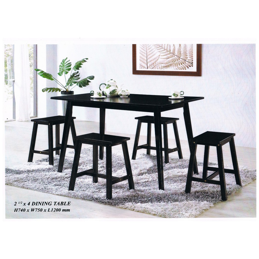 (READY STOCK) ( TABLE ONLY)DINING TABLE WITH MDF TOP/ MEJA MURAH (SIZE: L 120 X W 75 X H74 CM
