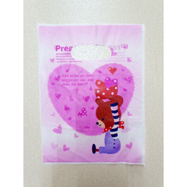 100 pcs Plastic Bag for Gift or Goodies (Size S : 15cm x 20cm ) 100pcs