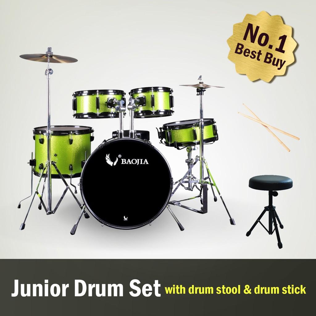 Baojia 5 Piece High Grade Jazz Percussion Acoustic Drum Set Shopee 1 Malaysia