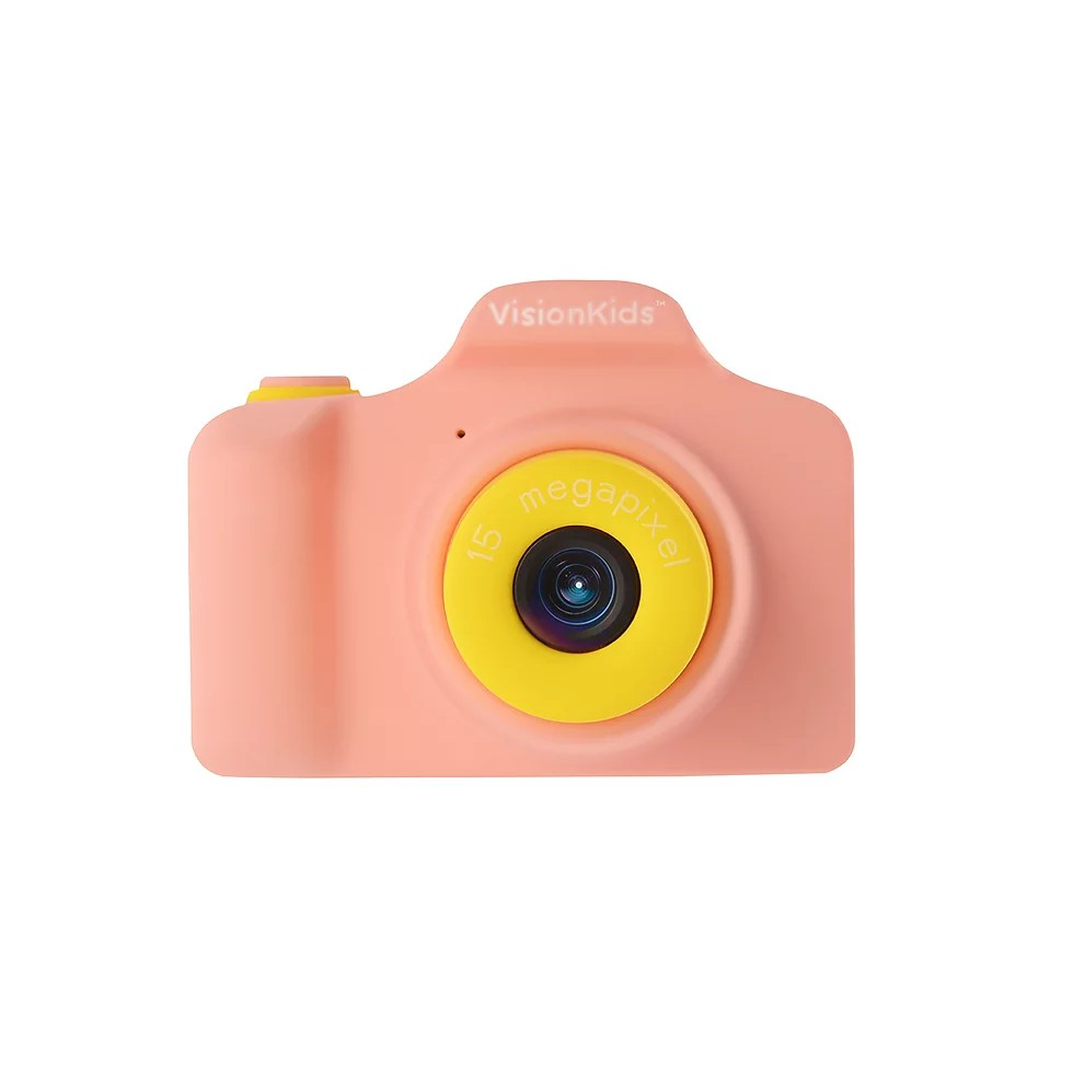 VisionKids 15 Megapixels HappiCAMU Kids Camera Mini Digital Cam Selfie DSLR for Kids Action Camera FHD IPS Screen 15mp