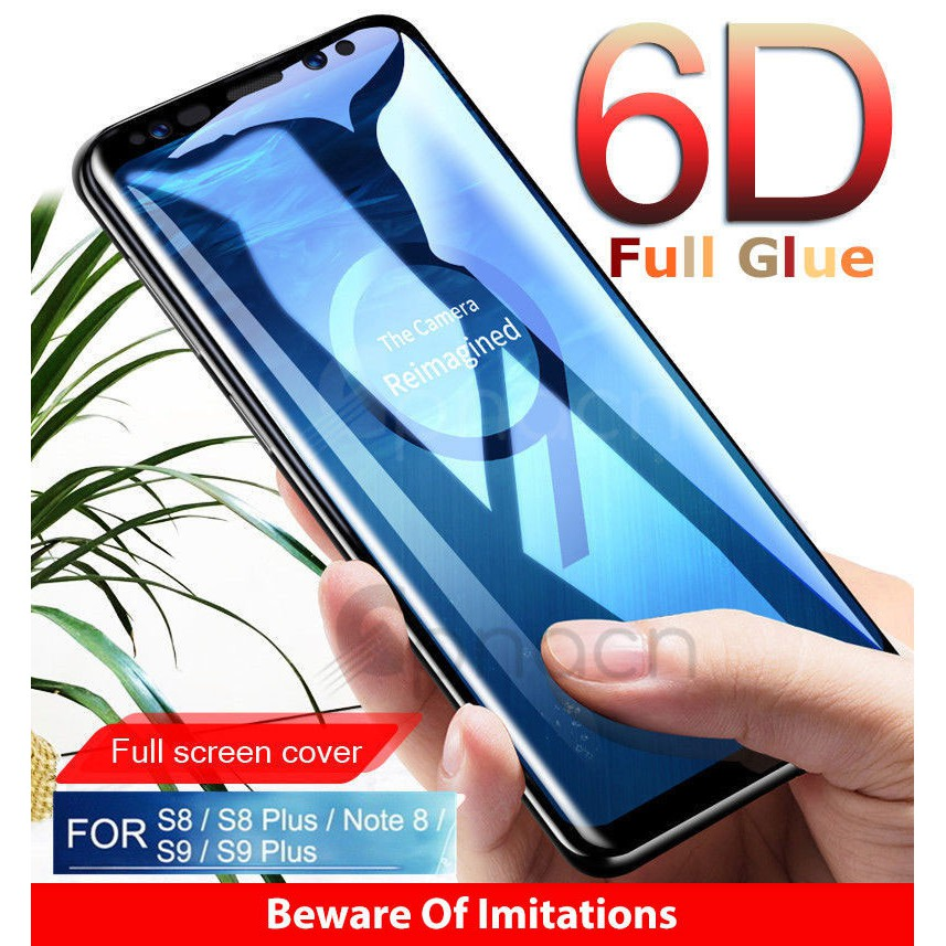 6D Full Glue Samsung Galaxy S8 S9 Plus Note 8 Screen Protector Tempered  Glass