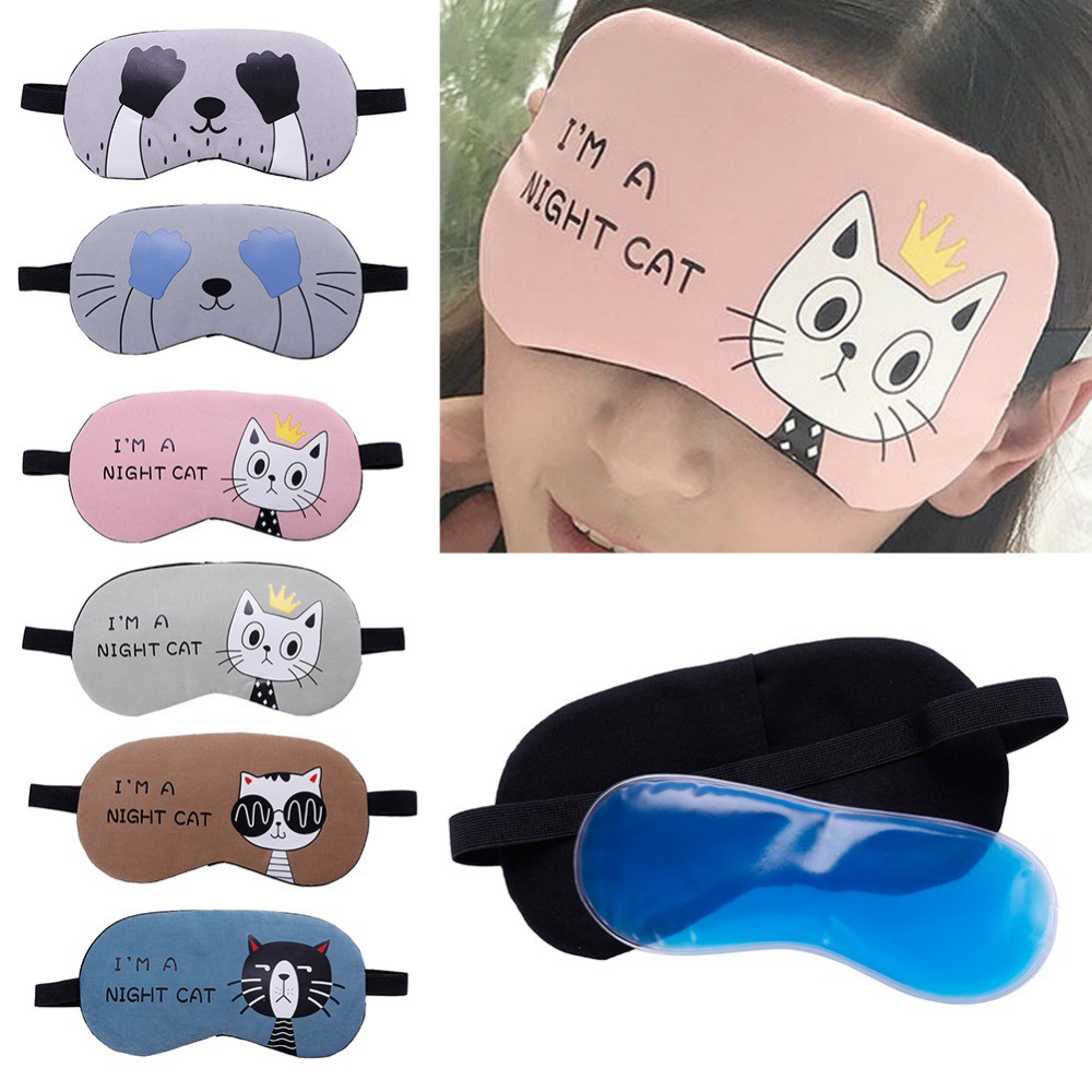 Sensible Cute Eyes Mask Cover Plush The Sad 3d Frog Eye Mask Cover Sleeping Rest Travel Sleep Anime Funny Gift Elastic Band Men's Accessories Apparel Accessories