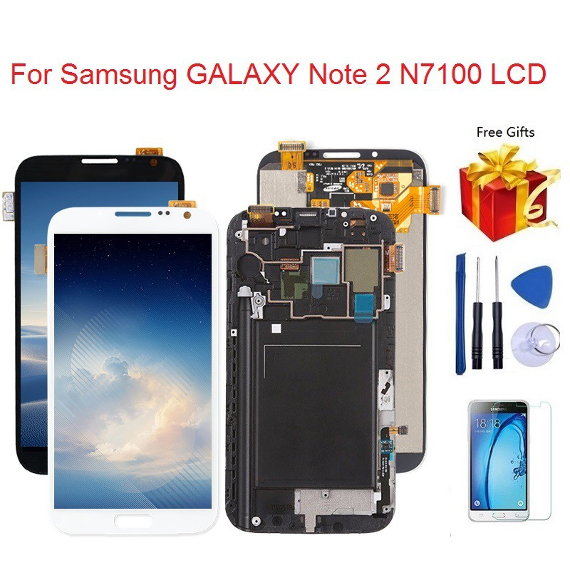 For Samsung Galaxy Note 2 N7100 N7105 LCD Touch Screen Digitizer Assembly