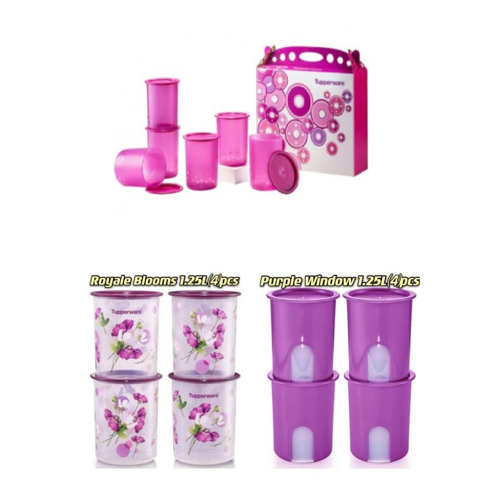 Tupperware Window One Touch OR Royale One Touch OR Camellia one touch Canister Junior 1.25L