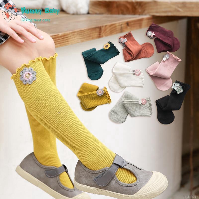 5 Pack Toddler Infant Baby Girls Knee High Socks Tube Ruffled Stockings