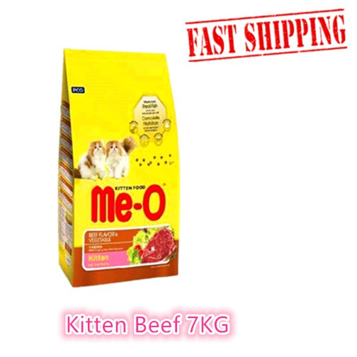 Me O Kitten Beef Vegetables Cat Food Makanan Kucing 7kg