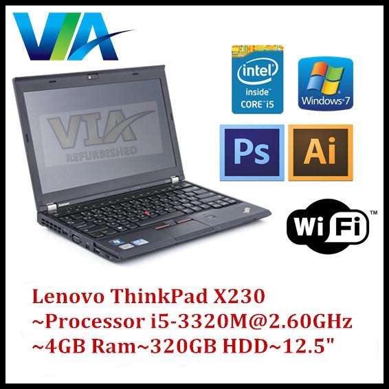 Student/Office Laptop Lenovo X230 Core i5~4Gb~320Gb HDD~W10