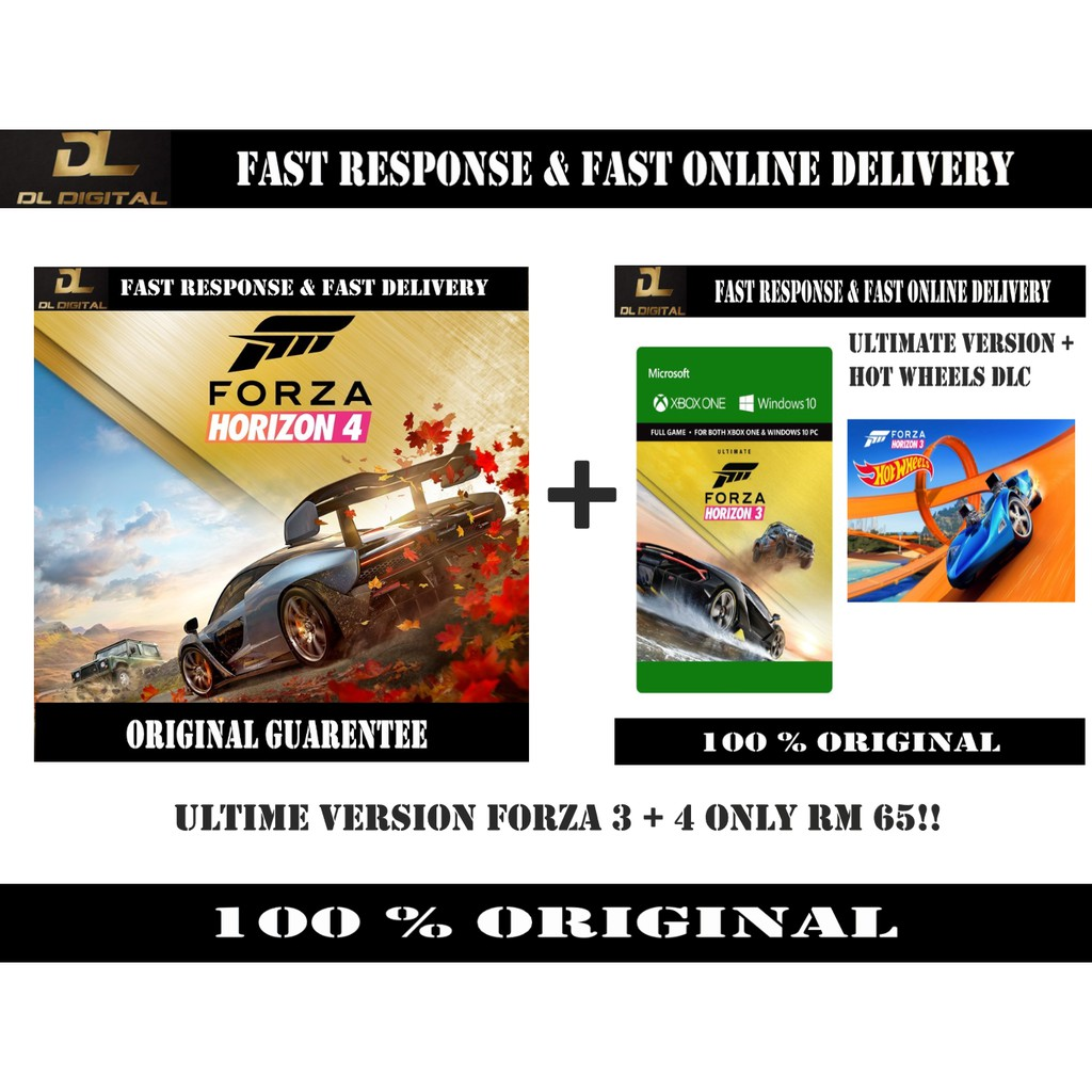 Forza horizon 4 Ultimate Version(PC Window 10 only)☛ Original Activation☚