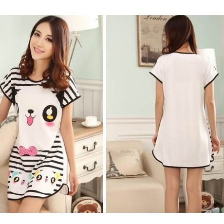 #Baju Tidur Nightwear Cartoon Sleepwear cute Skirt Pajamas Casual Wear