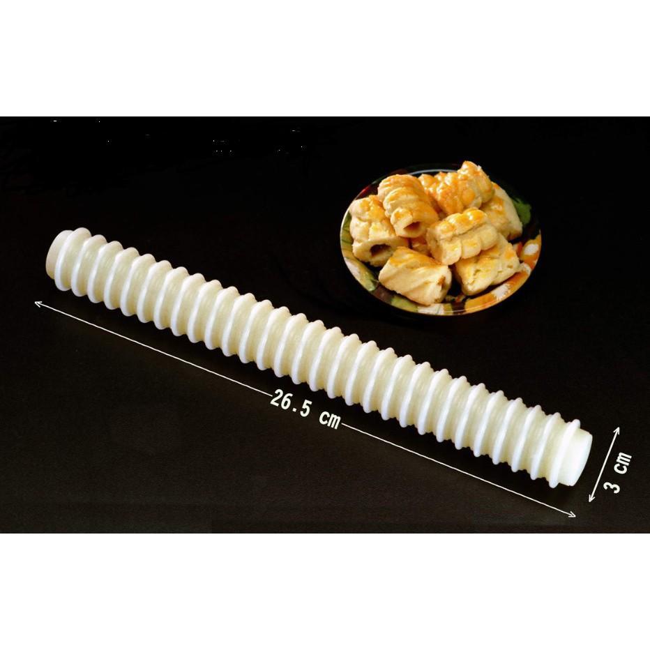 Non-stick Rolling Pin/ Decorating Pastry Rolling Pin DIY Fondant / Acuan Tart Gulung Gelek Plastic