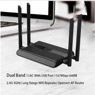 Indoor Wireless Network Router With USB Port Firewall VPN 300Mbps WiFi  Router