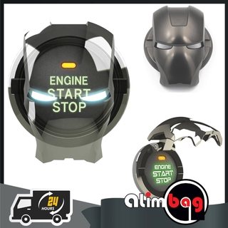 Push to Start Button Cover Iron Man Marvel,Engine Start Stop Button Cover Universal Button Decoration Ring
