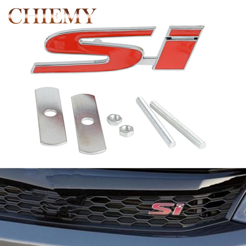 For Honda 3D Metal Racing Front Hood Grill Grille Badge Emblem TYPE-R Logo