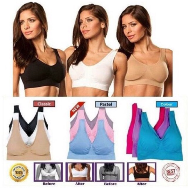 4d546893ccbe5 Wholesale 100% Original Genie Bra Set 3pcs | Shopee Malaysia