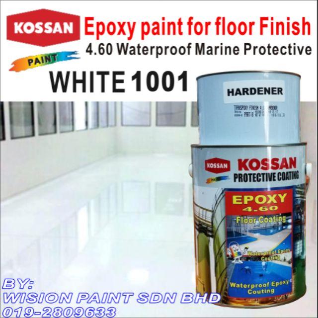 1001 (1 Liter) KOSSAN 4 60 EPOXY PAINT FLOOR COATING FINISH
