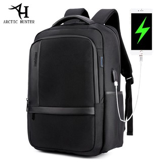 "ARCTIC HUNTER Waterproof Nylon Laptop Backpack fits up to 15.6"" with USB Port"
