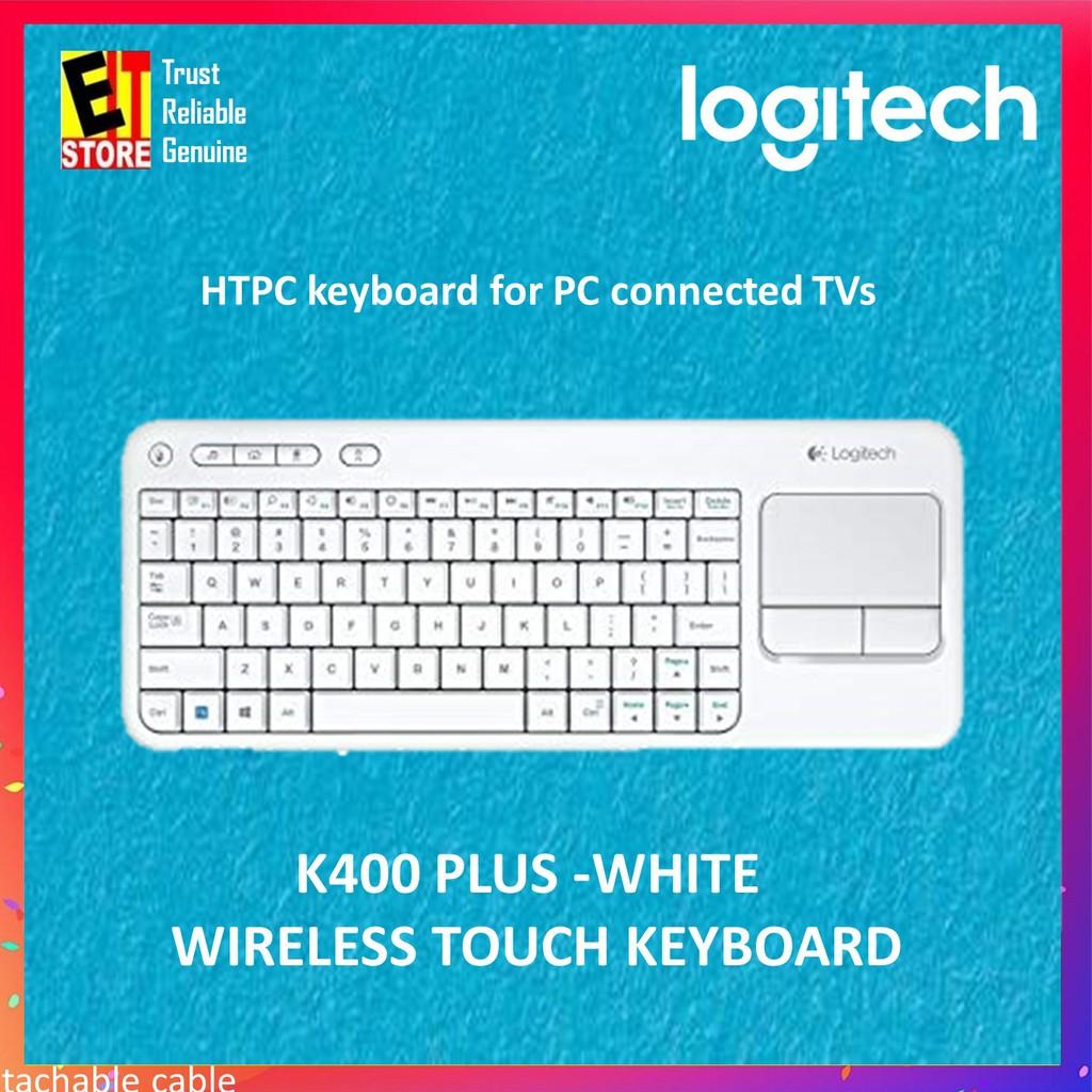 LOGITECH K400 PLUS WIRELESS TOUCH KEYBOARD -WHITE