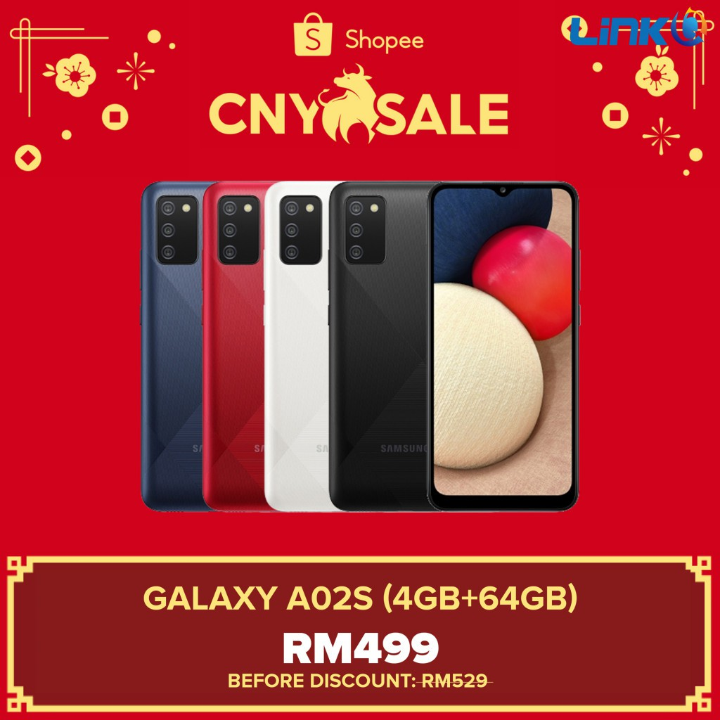 Samsung Galaxy A02s (4GB RAM + 64GB ROM) Smartphone - Original 1 Year Warranty by Samsung Malaysia