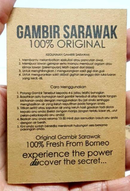 Gambir Sarawak Asli Utk Lelaki Pelbagai Kegunaan Shopee Malaysia