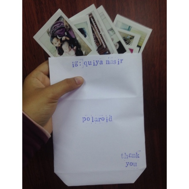 Polaroid Photo Print For 50sen Only Print Cuci Gambar Polaroid