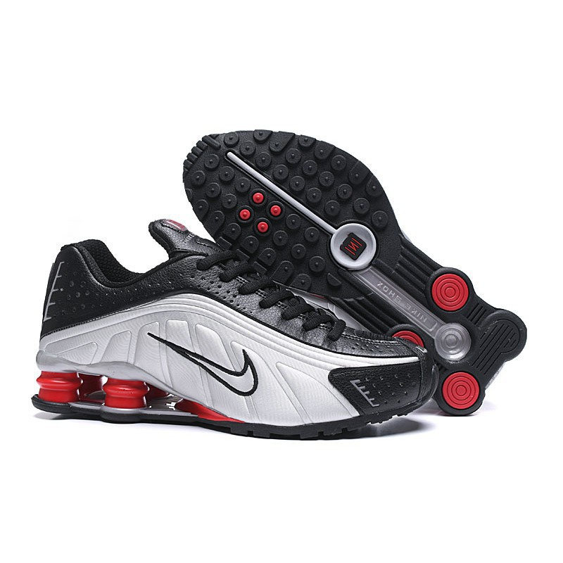 detailed pictures los angeles the cheapest [Gift 1 socks] 2019 new Nike Shox R4 men's sports shoes air column running  shoes SIZE 40-46