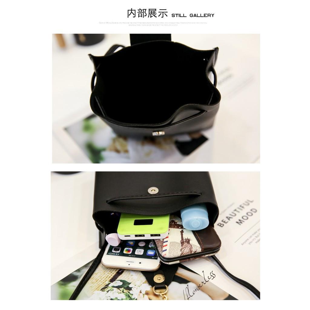 EVON PREMIUM SB032 SLING BAG BUCKET HAND BAG BIG CAPACITY CASUAL FASHION DESIGN POUCH STORAGE