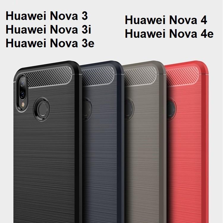 Huawei Nova 3i 3E 3 4 4e Nova3i Nova3 Drawbench Fiber Phone Case Casing  Cover