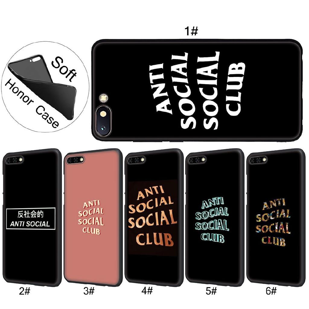 Huawei Honor 10 8X 6A 8 9 Lite anti social social club Soft TPU Phone Case  Cover